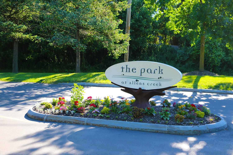 Exterior Park At Allens Creek Sign